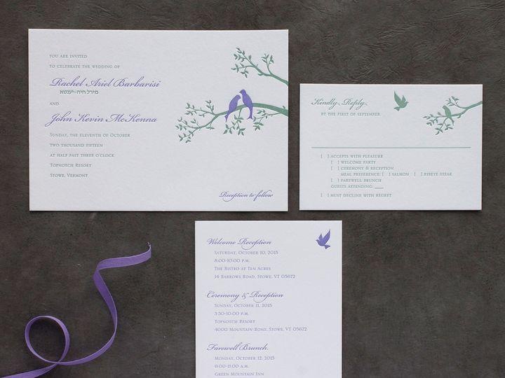 Tmx 1490895321719 Lovebirds1 Spread Jamaica Plain wedding invitation