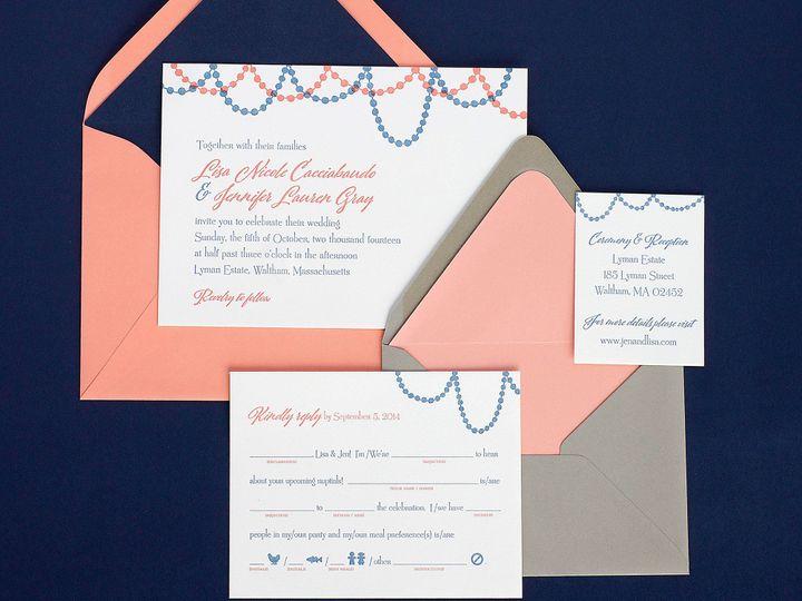 Tmx 1490896646442 Garlandbeads Spread Jamaica Plain wedding invitation