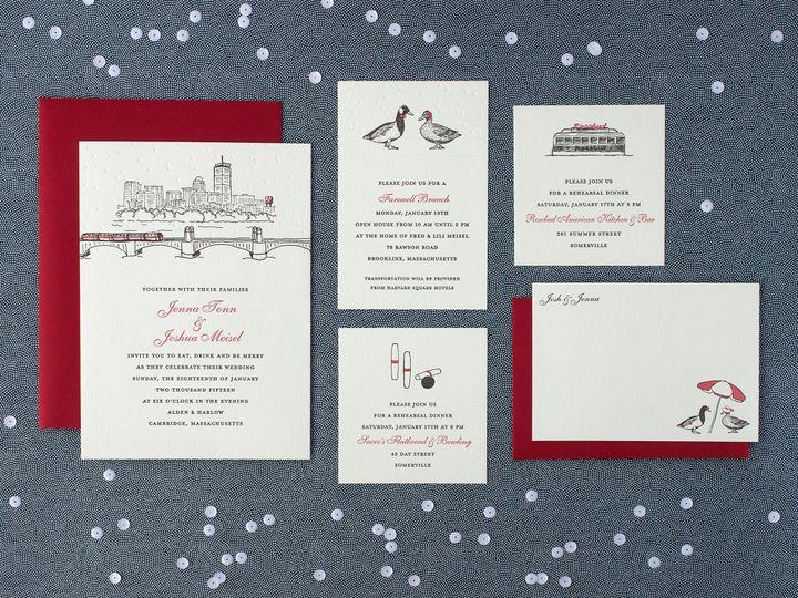 Tmx 1490896775817 Bostoncityscapespread Jamaica Plain wedding invitation