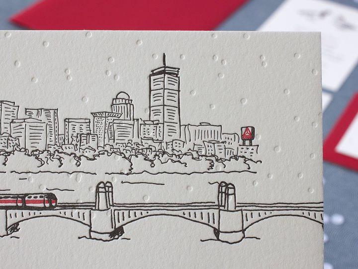 Tmx 1490896790515 Boston Cityscape Detail Jamaica Plain wedding invitation