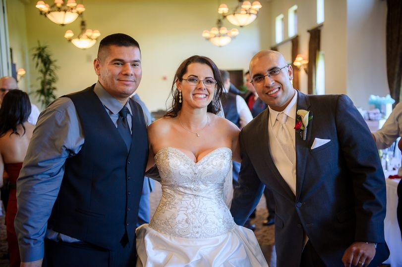 Southern Cali DJs with the bride