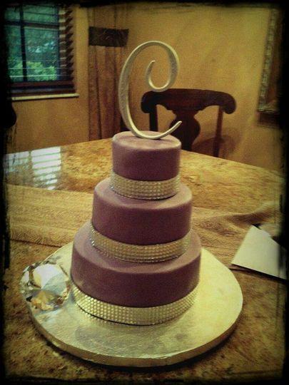 Lavender Three Tier Cake