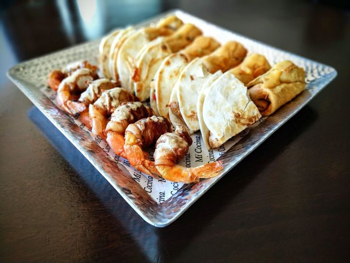 Passed Appetizers:  Shrimp Brochettes-Mini Chimchangas-Quesadillas and More!