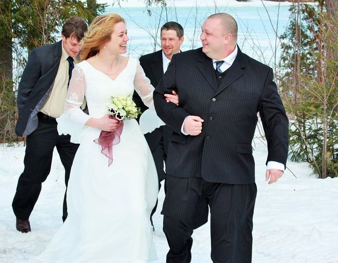 Winter newlyweds