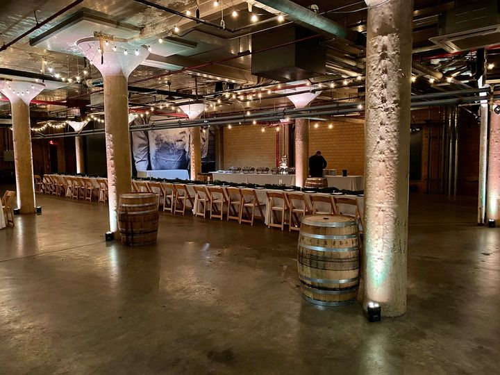 Uplights at Whiskey Factory