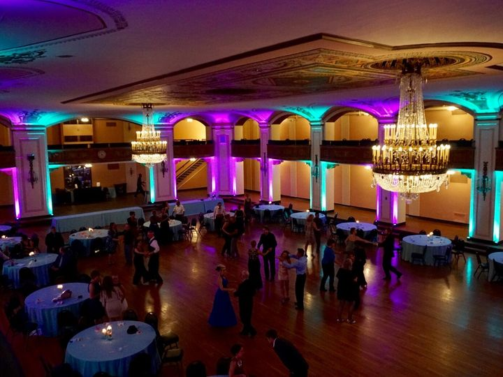 Tmx Uplighting At The Masonic Temple In Detroit Mi Teal And Purple Up Lighting For Event In Mi 51 360478 157831946415912 Garden City, MI wedding dj