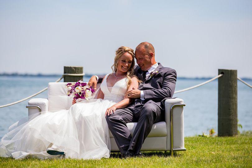 Couple seated