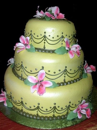 Smooth-as-fondant butter creme icing gives this detailed cake a beautiful yet crazy-delicious...