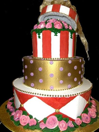 Available to coordinate with your personal color palette, this cake offers a sense of fashionable...