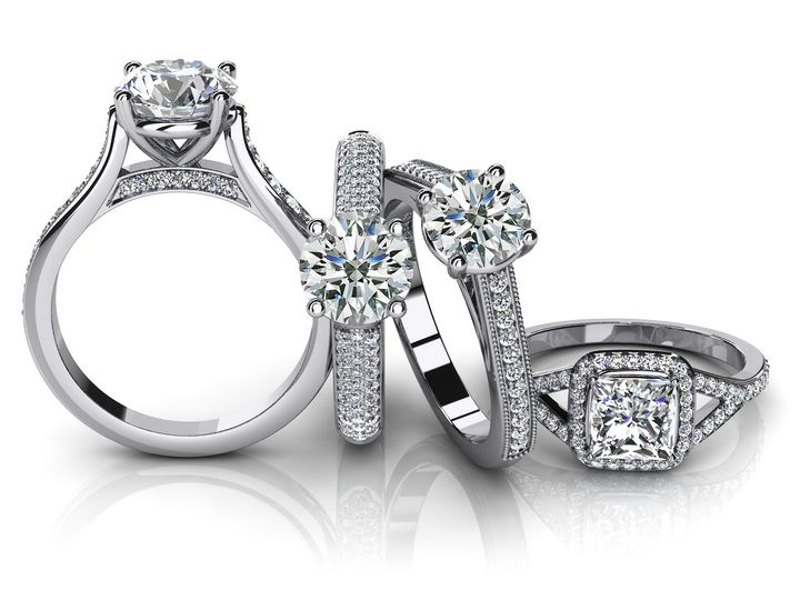 Tmx 1508952961356 Bunch Of Engagement Rings Libertyville, Illinois wedding jewelry