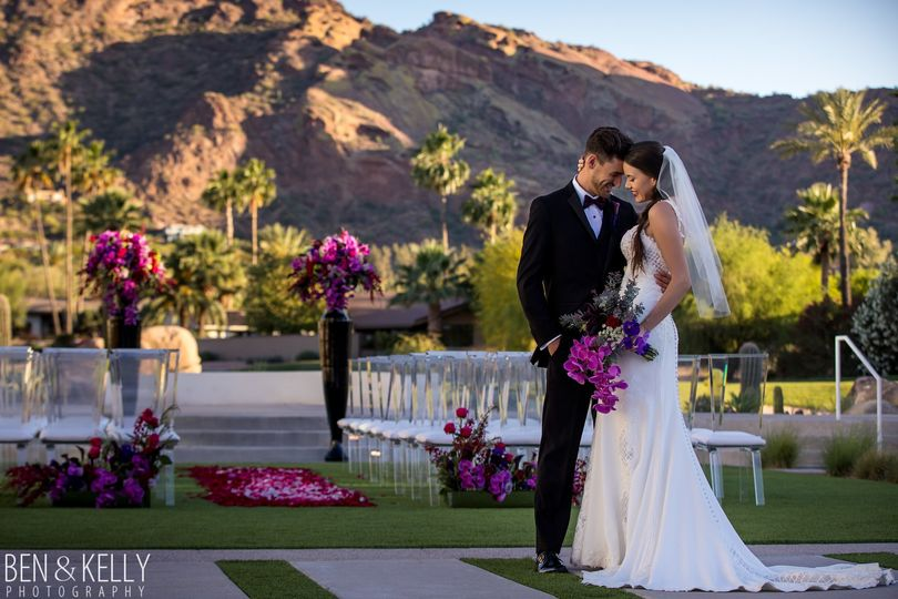 With a breathtaking view of Camelback Mountain, our wedding ceremony location is unsurpassed!
