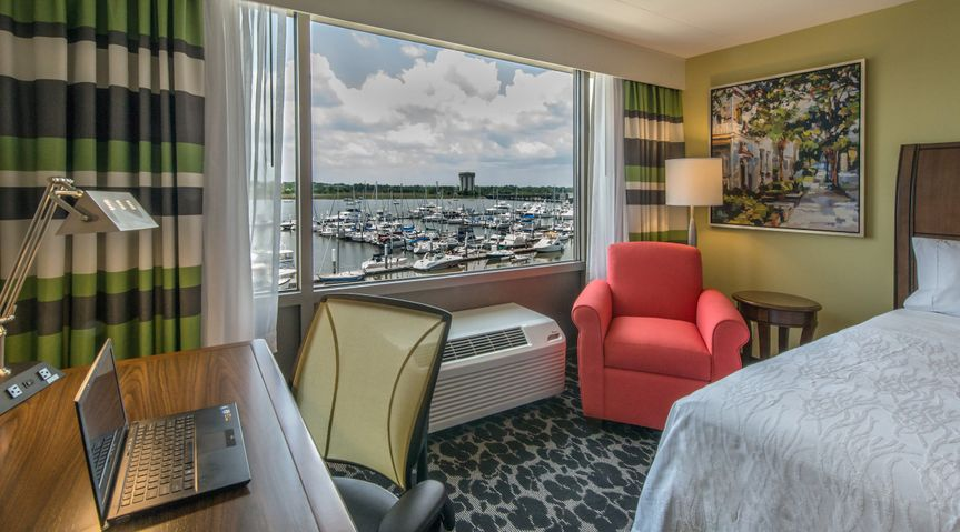 We feature waterview guestrooms.