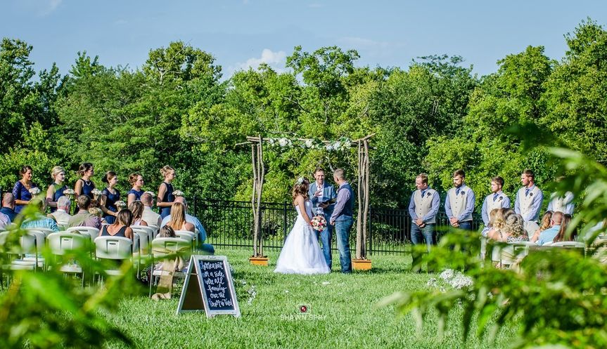 Side lawn is perfect location for ceremony.Photo by:  Shawn Spry