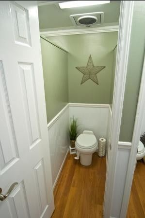 Restroom trailer interior