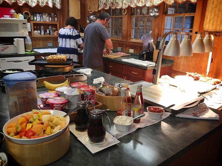 Home-style breakfast buffet