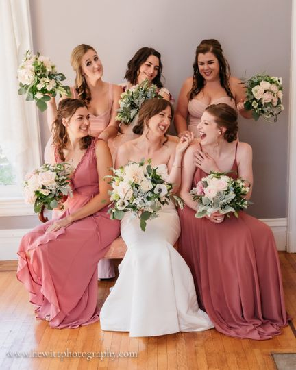 Bride and her bmaids