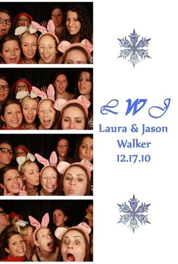 Here is an example of a photo booth strip that we can provide your guests.