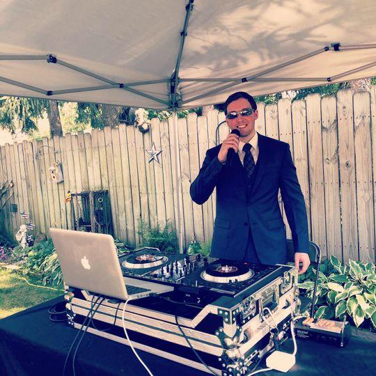 DJ Saxon at Outdoor wedding