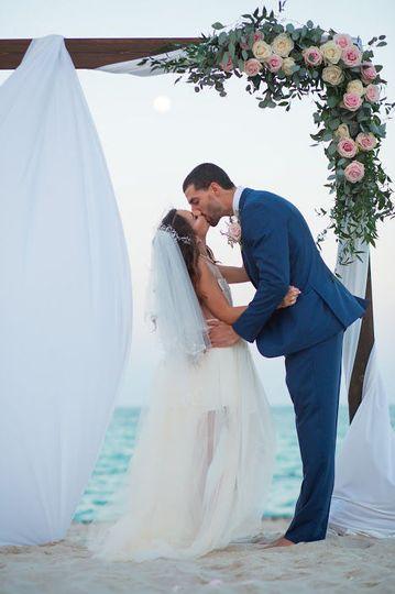 romantic wedding arch.