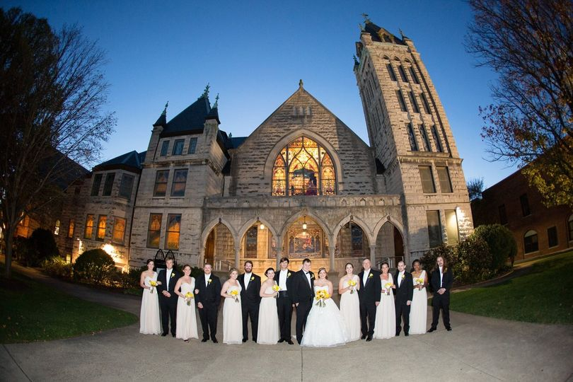 Wedding at central united methodist, asheville