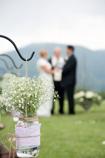 Outdoor wedding in the NC mountains