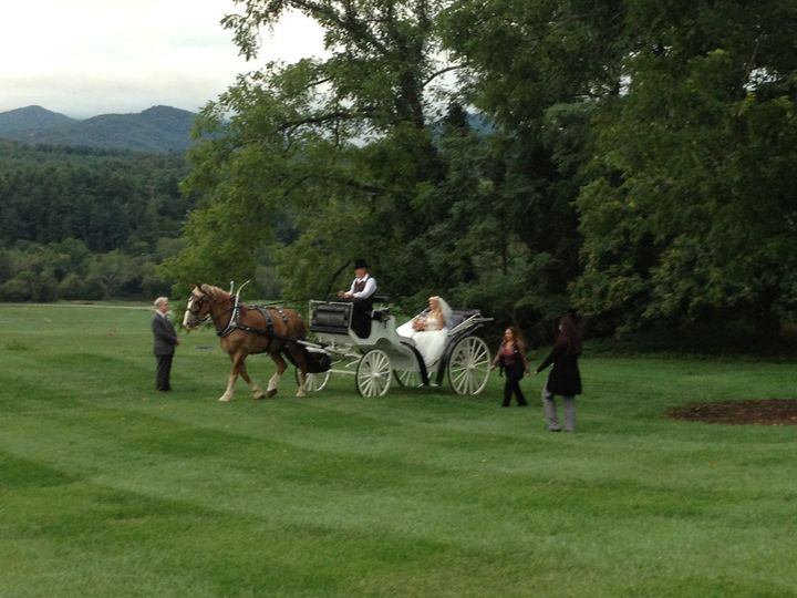 Biltmore Estate Wedding, Horse and Carriage Entrance