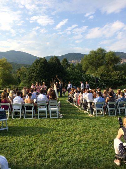 Wedding at Morse Park, Lake Lure, NC (facing away from gazebo)