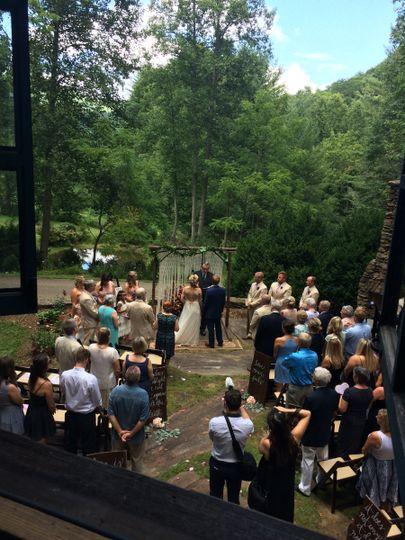 Wedding Ceremony at the Vineyards at Betty's Creek, Sylva, NC (near Dillsboro). Honeymoon Cottage...