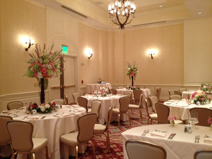 Reception at Inn on Biltmore Estate, Asheville, NC. Flowers by Two Buds and a Blossom