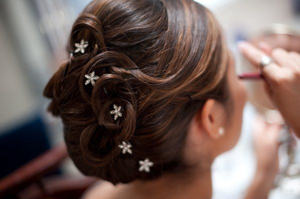 Updo with stars