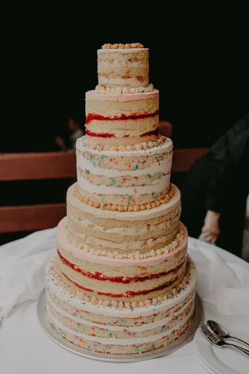 Six Tier Cake  multi flavor photo: chellise michael photo