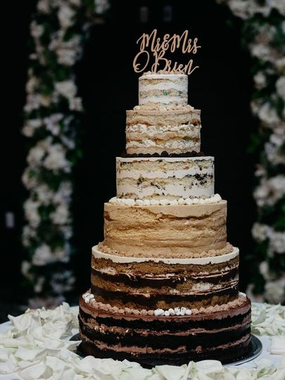 Six Tier Cake Ombre Multi Flavor credit: wilde scout photo