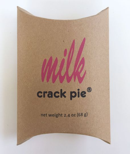 Crack Pie Slice Pillow Box packaging credit: milk bar press