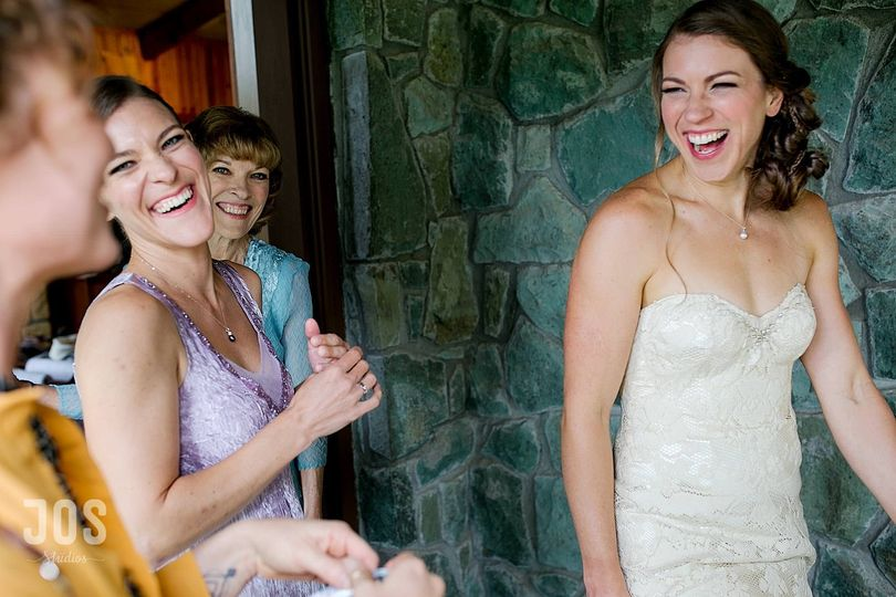 Laughter before the wedding