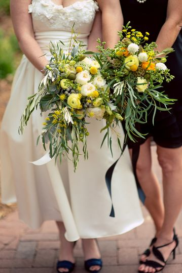 Nature inspired bouquets