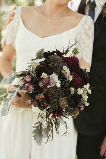 Rich color bouquets