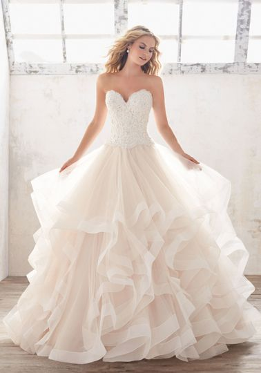 Frilly ball gown