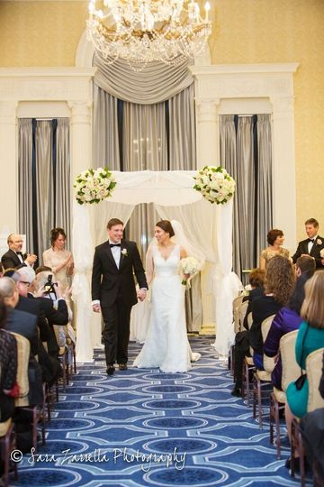 Cerermony in Garden Room with Chuppah