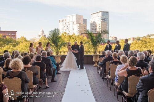 Ceremony on outdoor Terrace