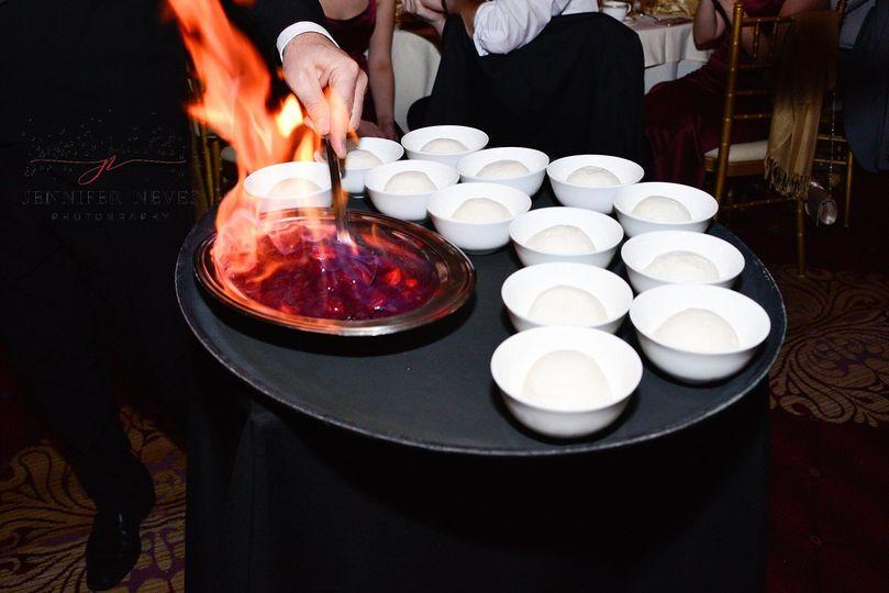 Flambé presentation