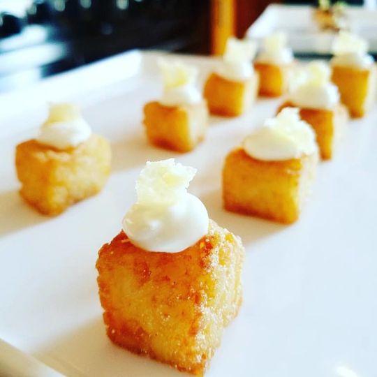 Truffle risotto bites