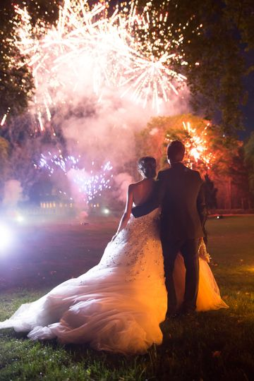 Wedding fireworks show