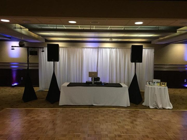 Reception setup at the Radisson Plaza in Kalamazoo