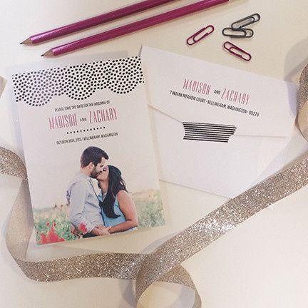Tmx 1440459287876 Doiley Save The Date Hidden Valley Lake wedding invitation