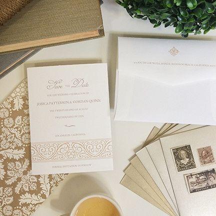 Tmx 1440459290476 Elegantframesave The Date Hidden Valley Lake wedding invitation