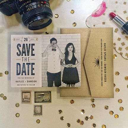 Tmx 1440459293323 Gatsbyesque Save The Date Hidden Valley Lake wedding invitation