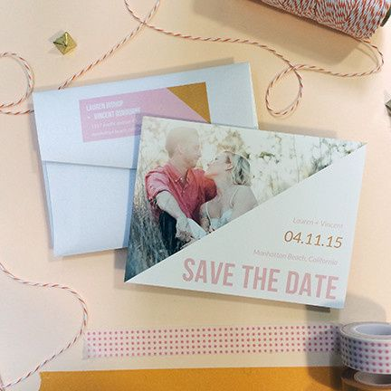 Tmx 1440459295833 His And Hers Save The Date Hidden Valley Lake wedding invitation
