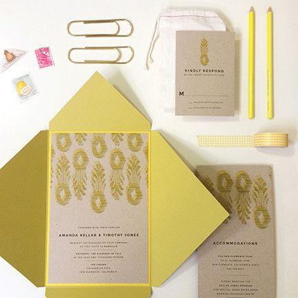 Tmx 1440459333017 Ikat Pineapple Wedding Invitation Hidden Valley Lake wedding invitation