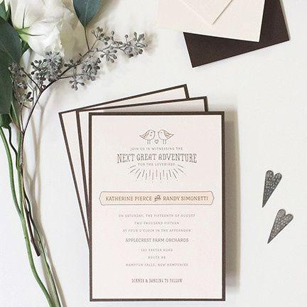 Tmx 1440459335760 Lovebirds Wedding Invitation Hidden Valley Lake wedding invitation