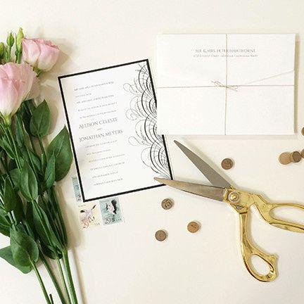 Tmx 1440459338640 Noms De Plume Wedding Invitation Hidden Valley Lake wedding invitation